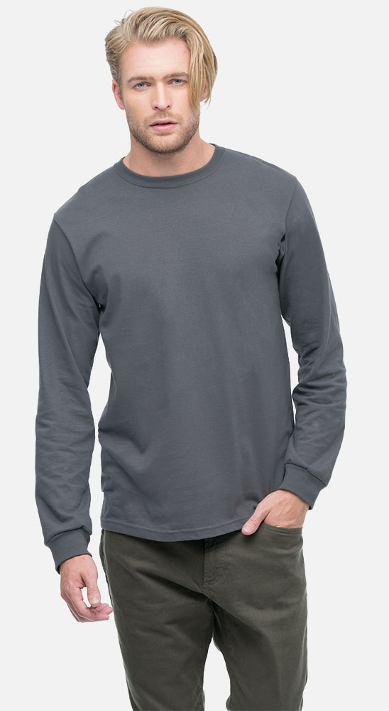 san francisco newest style of outlet online Men's Classic Long Sleeve Organic Tee Shirt | Econscious