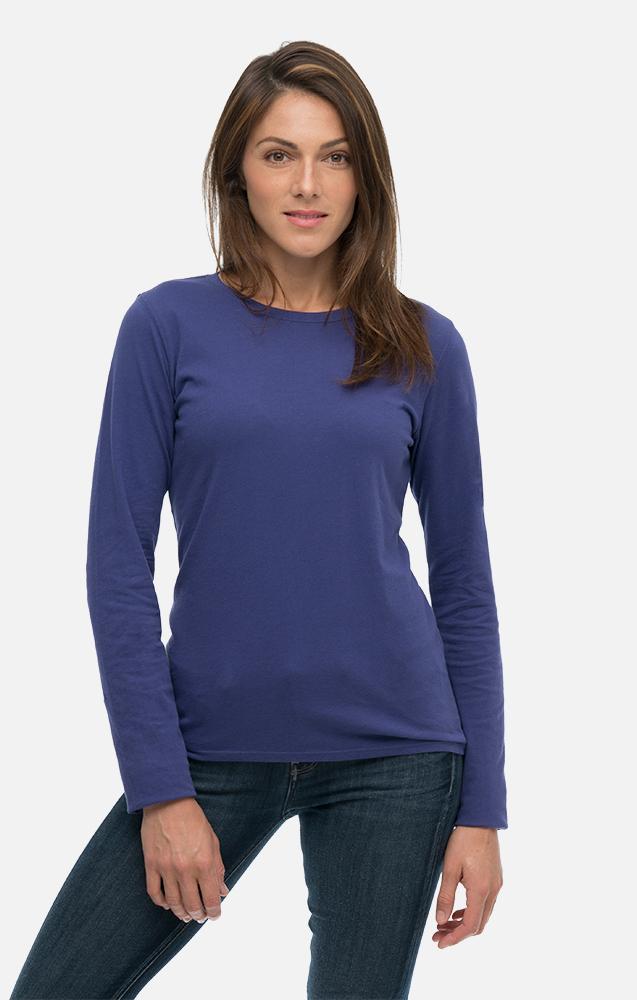 Women's Classic Washed Long Sleeve Organic Tee Shirt | Econscious
